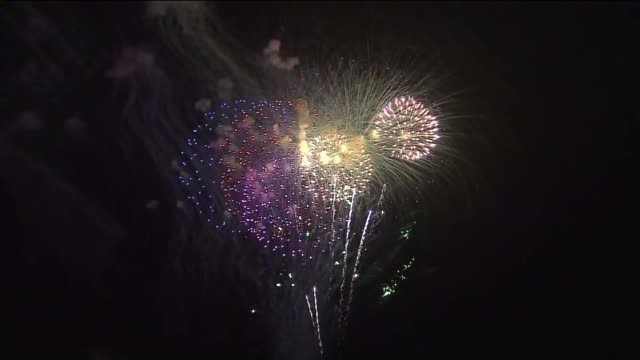 WGN Fireworks Display At Navy Pier in Chicago on July 4 2015