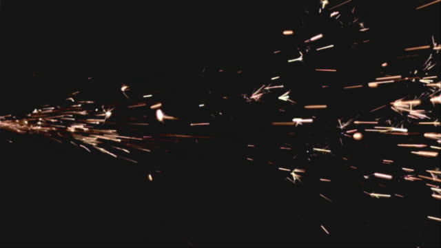 MS SLO MO Fireworks display at night / San Francisco, California, USA