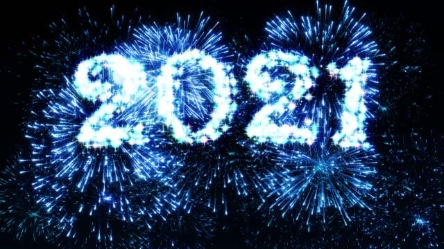 fireworks display blue 2021 - anniversary stock videos & royalty-free footage