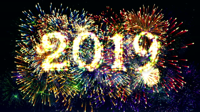 fireworks display countdown 2019 4k. - 2019 stock videos and b-roll footage