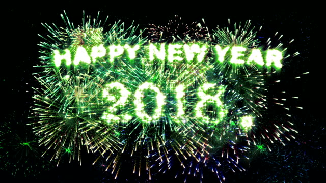 Fireworks Display countdown Happy new year 2018
