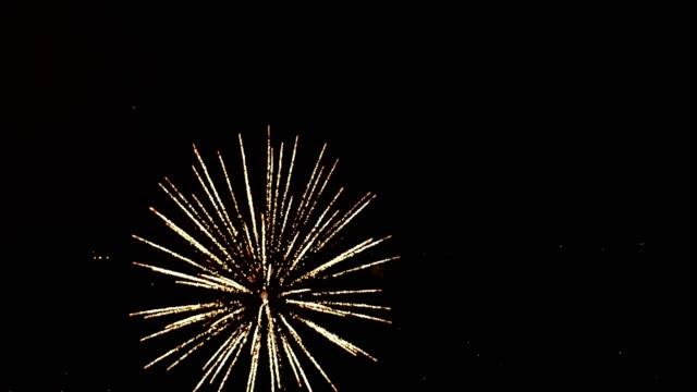 無人空中を花火大会 - firework display点の映像素材/bロール