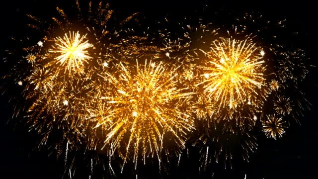 Fireworks Display gold color