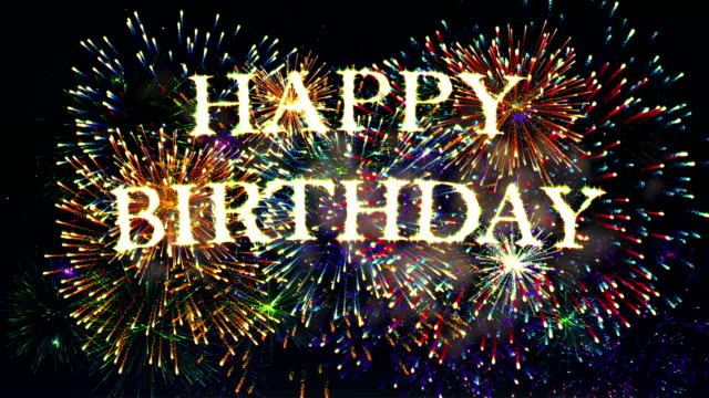 fireworks display happy birthday - birthday stock videos & royalty-free footage