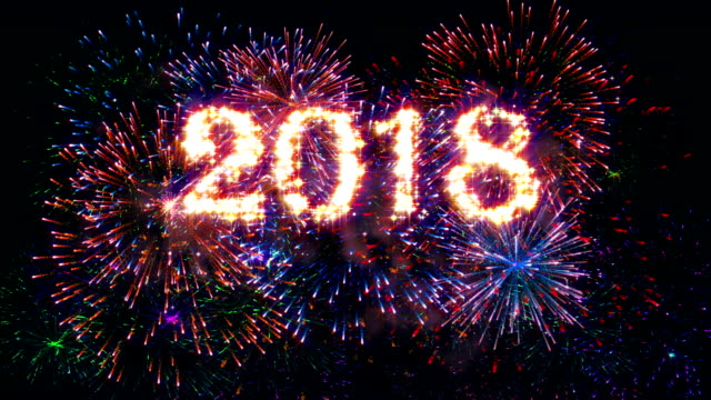 Fireworks Display Happy new year 2018