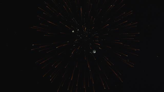 Fireworks display of multiple starbursts