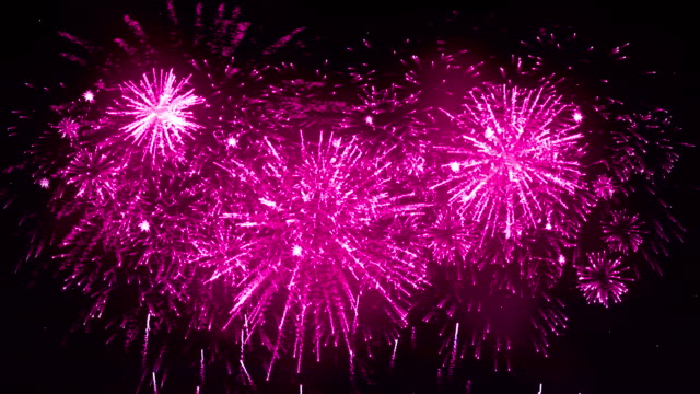 fireworks display pink color - pink color stock videos & royalty-free footage