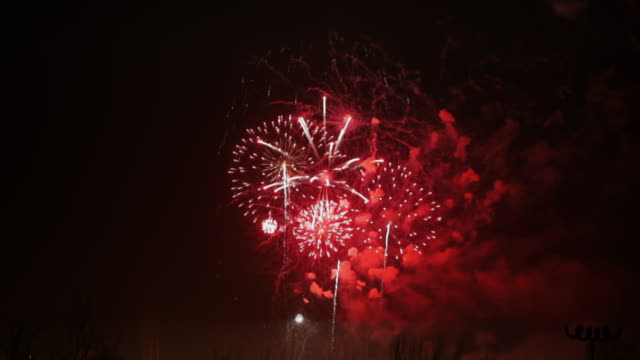 fireworks display time-lapse. - firework explosive material stock videos and b-roll footage