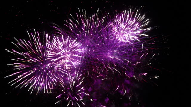 fireworks display. - digital clock stock videos & royalty-free footage