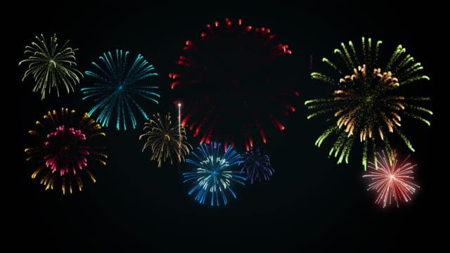 花火 大会 - firework display点の映像素材/bロール