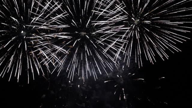 stockvideo's en b-roll-footage met vuurwerk. - vuurwerkshow
