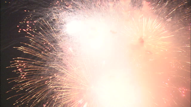 Fireworks explode in display, Japan