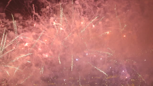 fireworks finale in santiago for carnival, close-up - firework explosive material stock videos & royalty-free footage