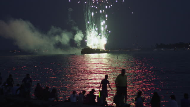 fireworks from barge in Westport CT