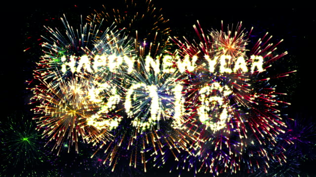 fireworks happy new year 2016 - 2016 stock videos and b-roll footage
