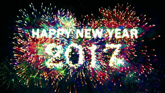 Fireworks Happy new year 2017 Retro Styled