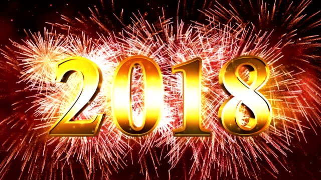 Vuurwerk Happy new year 2018