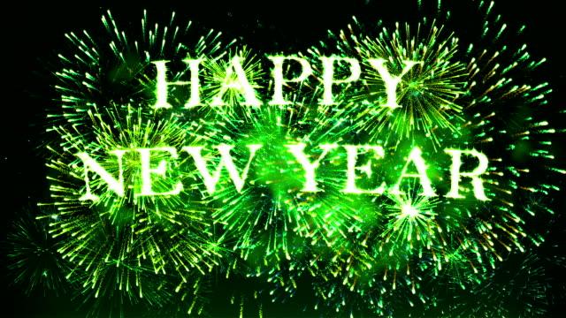 vídeos y material grabado en eventos de stock de fuegos artificiales feliz año nuevo - arte decorativo