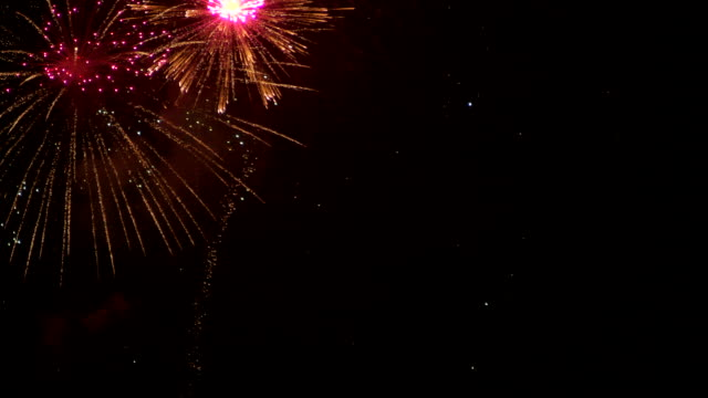 fireworks in the new year festival is a great new year celebration - film festival stock videos & royalty-free footage