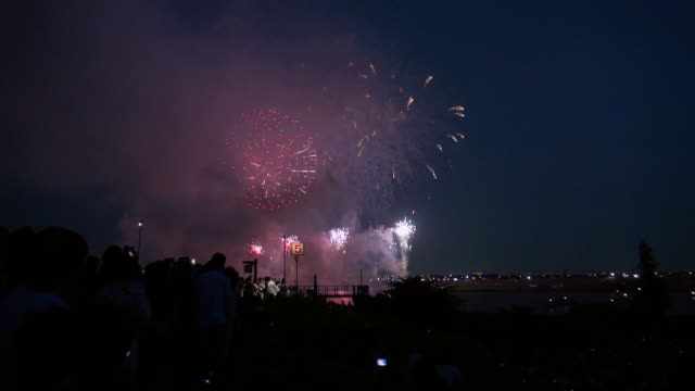 fireworks in tokyo - distante video stock e b–roll