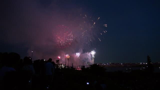 fireworks in tokyo - avlägsen bildbanksvideor och videomaterial från bakom kulisserna