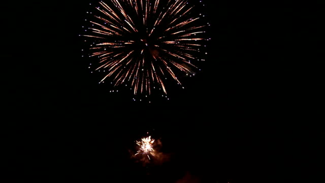 fireworks light up the sky with dazzling display hd. - circa 4th century stock videos & royalty-free footage