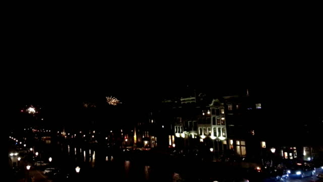 fireworks over amsterdam - firework explosive material stock videos & royalty-free footage