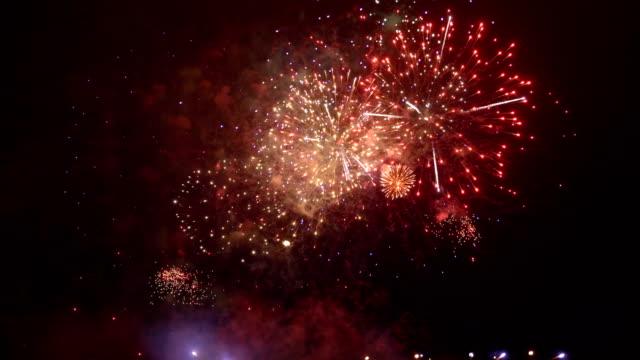 Feuerwerk in Zeitlupe 4K