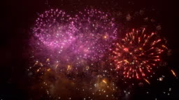 Fireworks show in 4K slow motion
