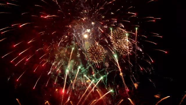 Fireworks show in 4K slow motion