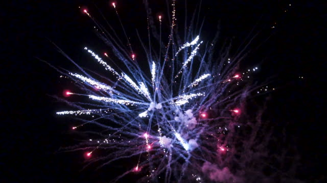 fireworks show in slow motion - explosive material stock videos & royalty-free footage