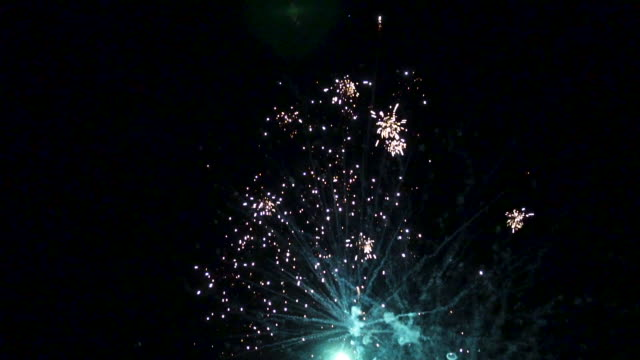 fireworks show in slow motion - firework explosive material stock videos & royalty-free footage