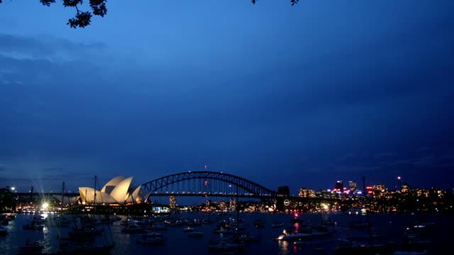 t/l fireworks, sydney harbour, australia - opera house stock videos & royalty-free footage