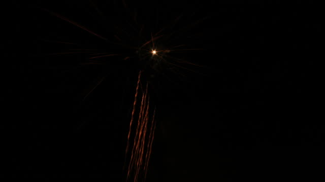 Fireworks time lapse