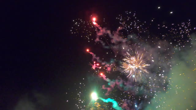 fireworks - pyrotechnic effects stock videos & royalty-free footage