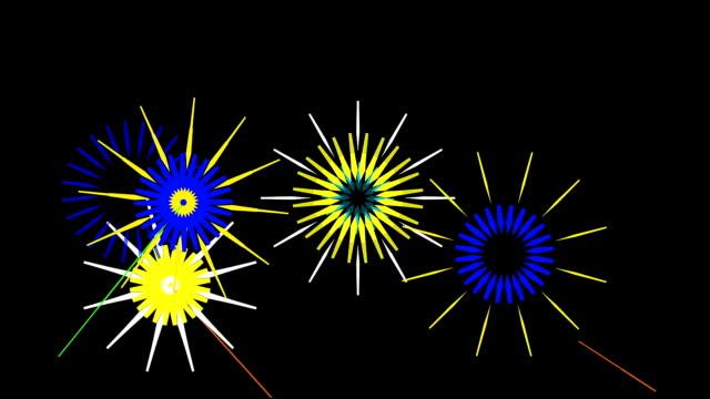 fireworks - circa 4th century stock videos & royalty-free footage