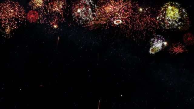 Fireworks with copy space. Holliday background.