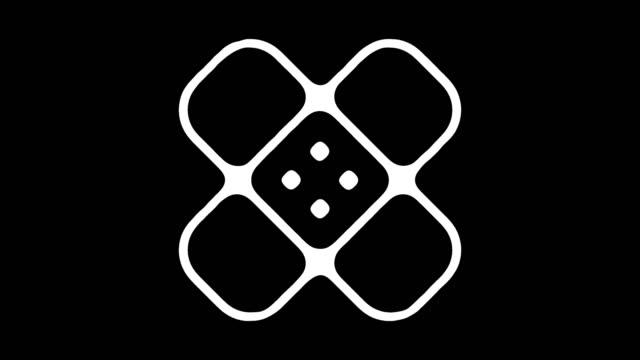 アルファで応急スキル ライン アイコン アニメーション - 絆創膏点の映像素材/bロール
