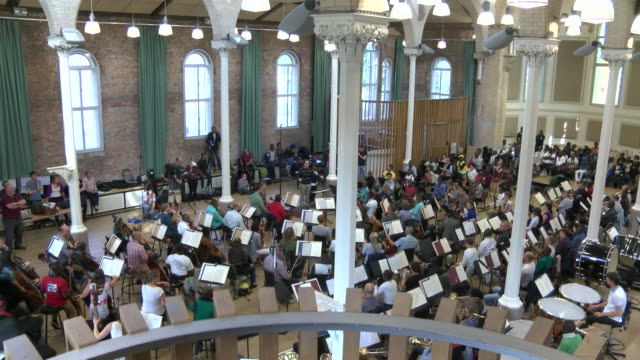 first all black orchestra, kinshasa symphony orchestra, rehearse with members of the halle orchestra for first ever british concert - bbc symphony orchestra stock videos & royalty-free footage