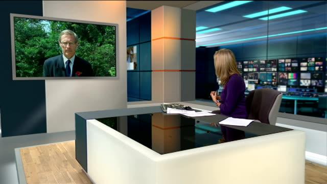 first british run ebola treatment centre opens england london gir int donal brown live 2way interview from freetown sierra leone sot - メアリー ナイチンゲール点の映像素材/bロール