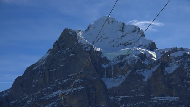 First Cable Car and Wetterhorn, Grindelwald, Bernese Oberland, Canton of Bern, Switzerland