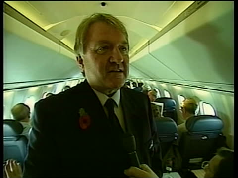 first concorde passenger flights since paris crash pool via aptn passengers sitting in concorde during first passenger flight since crash in paris... - british aerospace concorde stock videos & royalty-free footage