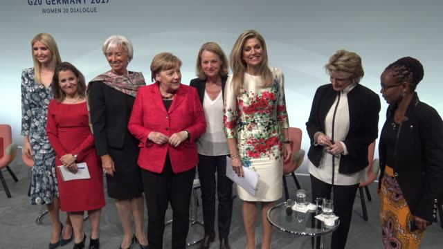 first daughter and advisor to the us president ivanka trump christine lagarde of the international monetary fund german chancellor angela merkel and... - prinzessin stock-videos und b-roll-filmmaterial