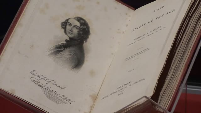 vídeos de stock e filmes b-roll de a first edition book a christmas carol signed by charles dickens is displayed on the 175th anniversary of its release at the philip mould and company... - charles dickens