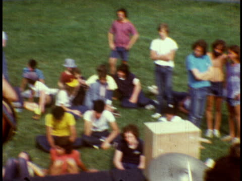 1973 ms first film ever of brandon steiner summer jam / sussex, new jersey - summer camp stock videos & royalty-free footage