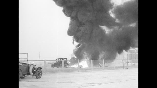 first film of a tornado forming / [9/2/1933] italian aviator francesco de pinedo's airplane struggles to lift off from floyd bennett field in new... - steel worker stock videos & royalty-free footage