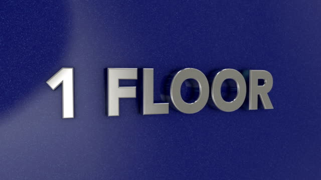 first floor 3d sign - elevator point of view stock videos and b-roll footage