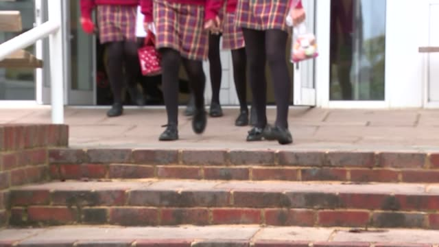 first grammar school in 50 years approved kent tonbridge weald of kent grammar school blurred shot of girls along outside grammar school legs of... - schoolgirl stock videos & royalty-free footage