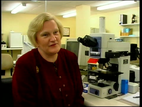 professor christine gosdon interview sot talks of possible outcry at human cloning - human fertilisation and embryology authority stock videos & royalty-free footage