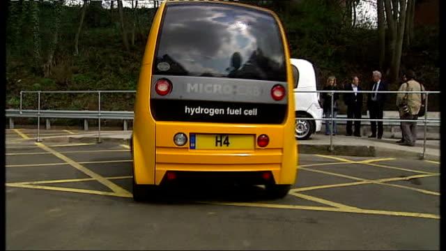 first hydrogen fuel station opens england west midlands birmingham university ext birmingham university hydrogenpwered car filled with hyydrogen at... - hydrogen stock videos & royalty-free footage